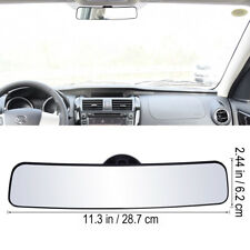 Wide Angle Flat Universal Car Truck Rear View Mirror w/ Suction Sucker Panoramic