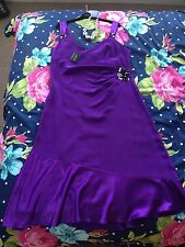 House Of Fraser Planet Ladies Wedding Party Christmas Purple Dress Size 18 BNWT