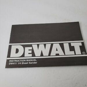 DeWalt DW411 Sheet Sander Instruction Manual 1993 1994