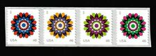 USA 2013 46c Kaleidoscope Flowers, Strip of 4 Stamps - Scott # 4722-25 / 4725a