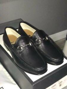 GUCCI Mens Black Loafers 1953 Horsebit 100% Authentic Size 9