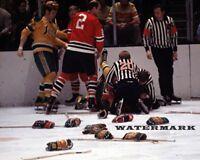 NHL 1970 - 71 Brawl Chicago Black Hawks vs California Golden Seals 8 X 10 Photo