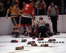 NHL 1970 - 71 Brawl Chicago Black Hawks vs California Golden Seals 8 X 10 Photo