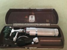 Vintage WELCH ALLYN Otoscope Ophthalmoscope Ear Examination Set with Case