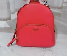 Hot Pink Leather Kate Spade Backpack