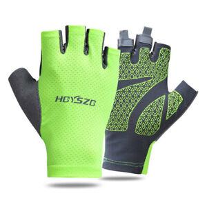 Unisex Gloves Half-Finger Sports Gloves Anti-Slip Anti-Sweat Thin Mesh Outdoor
