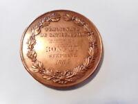 Médaille cuivre ancienne française 1884 Administration Assistance Publique Paris