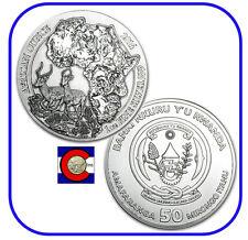 2014 Rwanda African Impala 1 oz Silver Coin in original mint sealed pack