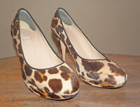 Pre-owned J.Crew PIA CALF HAIR PUMPS SIZE 9 VINTAGE SAND $358
