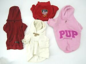 Dog Clothes Lot Of 4 Size Small & Medium Preowned Ralph Lauren NYFD Signature