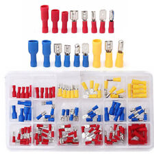 120 Car Assorted Insulated Electrical Wire Terminal Crimp Connector Spade Kit GL