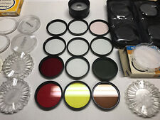 Huge 62mm Camera Filter Lot - Tiffen Bronica Hoya Color And Effects