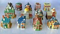 HUGE 21 LOT Vintage American Landmarks Home Town America Snow Winter Village