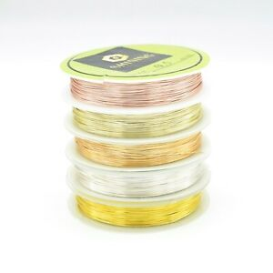 Silver / Gold Plated Non Tarnish Beading Wire 0.3mm,0.4mm,0.5mm,0.6mm,0.8mm,1mm