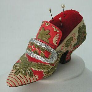 MMA Metropolitan Museum of Art Miniature Victorian Colorful Shoe Pin Cushion