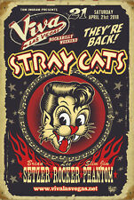 "STRAY CATS ""VIVA LAS VEGAS ROCKABILLY WEEKEND"" 2018 CONCERT POSTER -Brian Setzer"