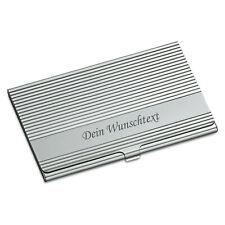 Visitenkartenbox Visitenkartenetui Quad Metall Silber