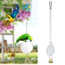 Parrot Bells Toys Mirror for Birds Do Not Break The Mirror