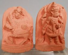 India Nepal Hindu Relief Terracotta Votive Tsa Tsa Plaques of Deities ca. 19th c