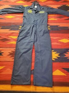 US Military NAVY USN Utility Coveralls ZIPPERED Jumpsuit Navy Blue Size 42R
