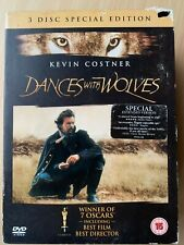 Dances With Wolves DVD 3-Disc Western Classic Director's Cut Extended Used