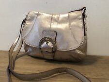 COACH METALLIC  CROSSBODY MESSENGER SMALL  BAG