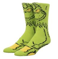 Dr. Seuss the Grinch Crew Socks Christmas Skate Hip Hop Unisex M/L 360 Degrees