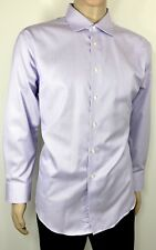 CALVIN KLEIN Men's Dress Shirt 171/2 32-33 Non Iron Slim Fit 100% Cotton