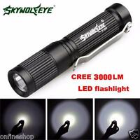 4000LM Zoomable COOL XM-L Q5 LED Flashlight 3 Mode Torch Super Bright Light Lamp