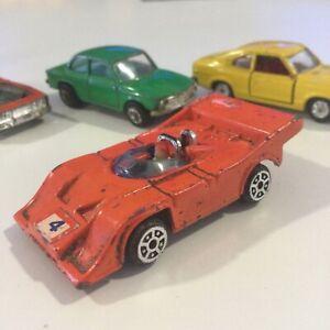 VINTAGE 1970s UNBRANDED ORANGE #504 PORSCHE AUDI RACE CAR 1:64 DIECAST HONG KONG