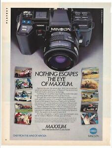 "Minolta Maxxum 7000 SLR 1986 Original Print Ad 9 x 11"" Playboy Magazine VTG 80s"