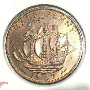 1967 Great Britain half penny unc