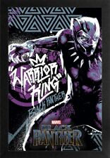 BLACK PANTHER WARRIOR KING 13x19 FRAMED GELCOAT POSTER MARVEL COMICS MOVIE NEW!!