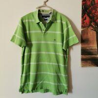 Tommy Hilfiger Polo-Shirt, Shirt, Kurzarm, Gr. M - grün - slim fit - top #LRM328
