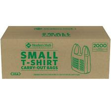 Members Mark Small T Shirt Carry Out Bags 2000 Ct Brand New