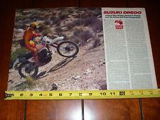 1981 SUZUKI DR500 - ORIGINAL ARTICLE