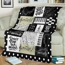Feel The Vibe Don't Stop The Music - Fleece, Quilt Blanket Print In Usa