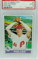 1979 BURGER KING  # 6 PHILLIES  DICK RUTHVEN  PSA 9 MINT