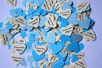BABY SHOWER 2019 PERSONALISED TABLE CONFETTI includes NAME & DATE / WEIGHT