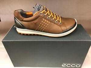 NEW ECCO BIOM HYBRID CAMEL/FANTA Men's Golf Shoes 39 5-5.5 WERE $215