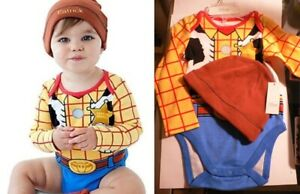 Woody Bodysuit Cap Cotton Baby Infant Baby Disney Store Toy Story Sheriff Cowboy