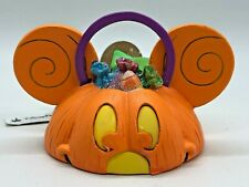 Disney EAR HAT Ornament - MICKEY MOUSE HALLOWEEN CANDY BASKET Light Up