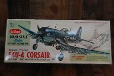 Vintage Guillows F4U-4 Corsair Giant Scale model plane