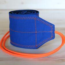 Trainingear Wrist Wraps Blue and Orange Weightlifting Lifting Crossfit Wrap
