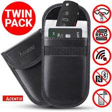 2x ACENTIX Keyless Car Key RFID Signal Blocker Faraday Bag Fob Guard Pouch Cases