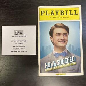 HOW TO SUCCEED Dec 2011 Broadway Playbill! DANIEL RADCLIFFE, Rose Hemingway +!
