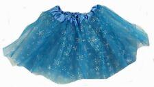 4 Piece Blue Fairy Set & Tutu Girls Kids Fairy Princess Costume Fancy Dress Set