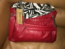 Bueno Collection Large Red Woman's Handbag Purse Buttery Soft $65