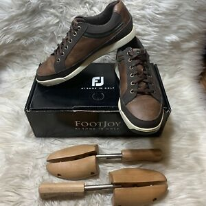 FootJoy FJ Contour Casual Mens SpikeLess Golf Shoes Size 10M Brown Leather 54275