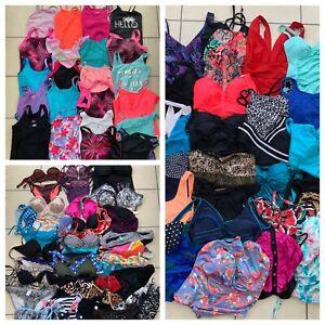 Joblot x 90 Mixed Swimwear - Girls Ladies Swimsuits + Bikini Tops Briefs Tankini
